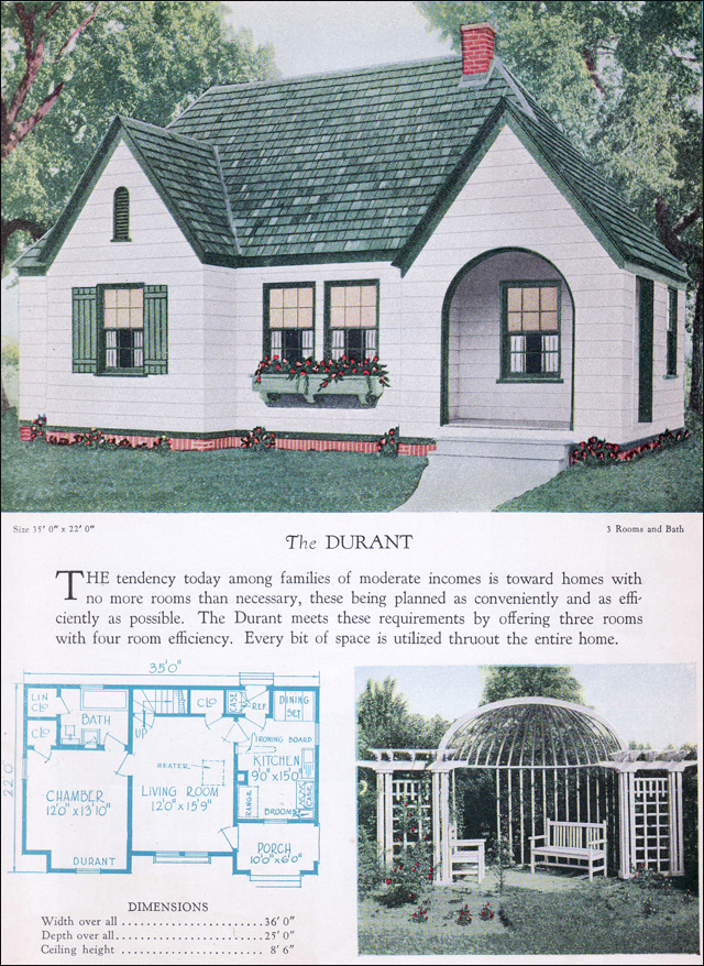 1928 Home Builders Catalog   The Durant