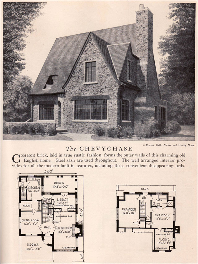 Chevychase House Plan Vintage American Architecture 1929 Home Builders Catalog English: vintage home architecture