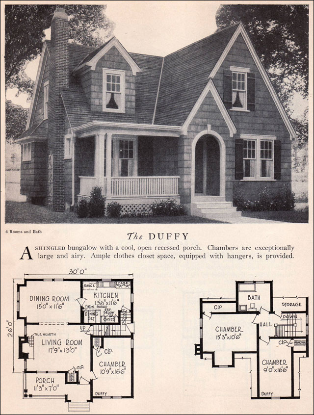 Home builders catalog 1929 duffy american residential for Old south house plans