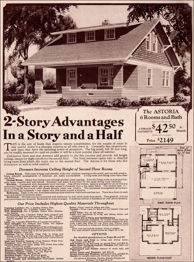 Classic Wardway Bungalow C 1930 Late Craftsman Style