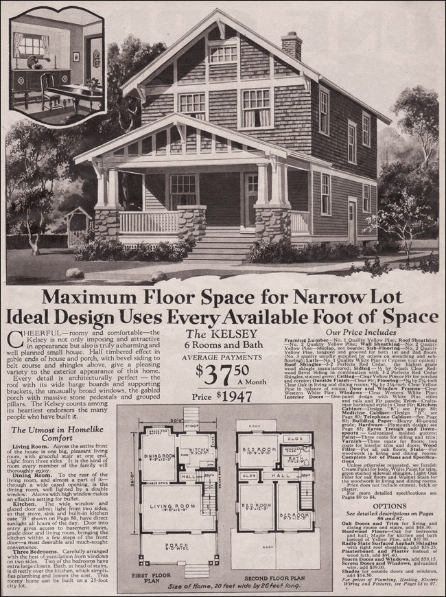 1930 Two Story Craftsman Bungalow Kelsey Montgomery Ward
