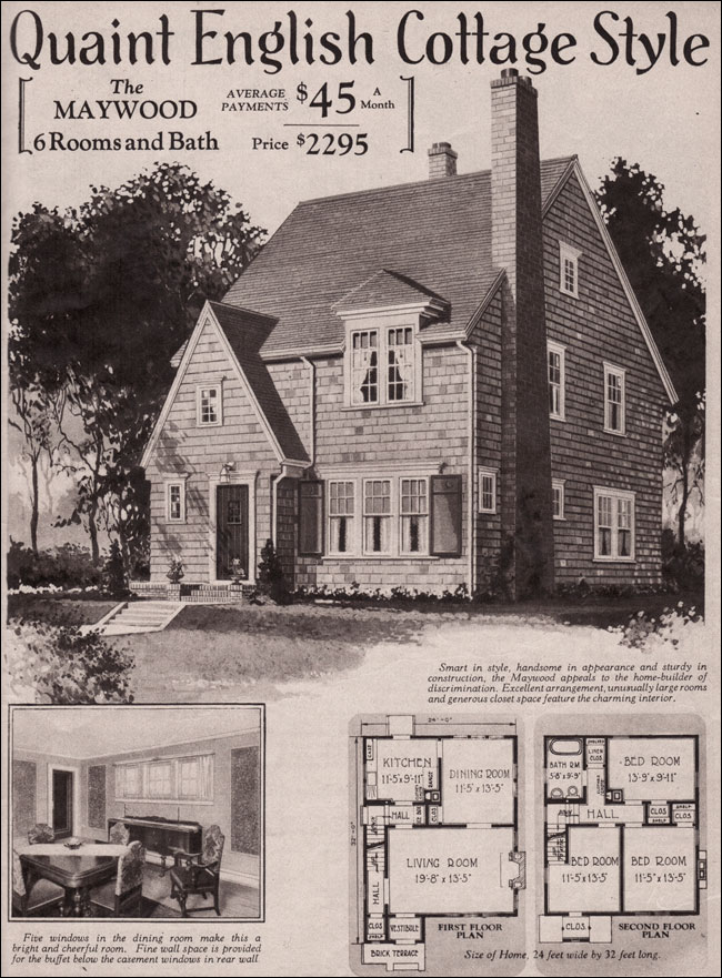 1930 English Cottage Maywood Kit Home Montgomery Ward