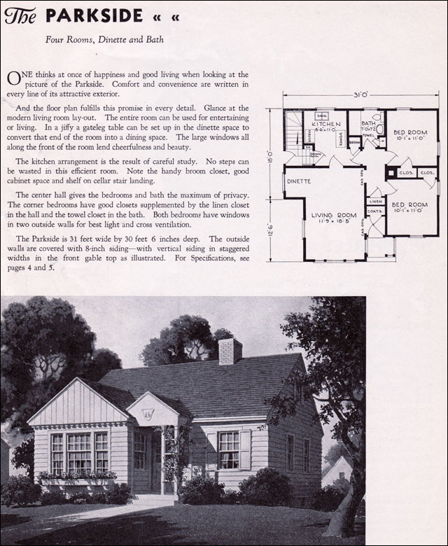 1940 Gordon Van Tine Homes - The Parkside