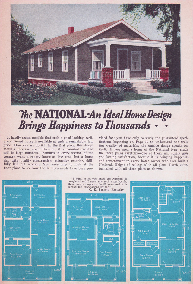 1935 Bungalow Style Liberty Homes By Lewis Mfg Small