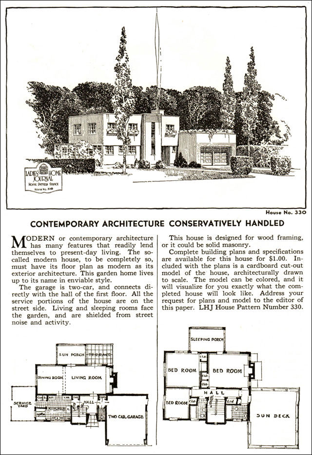 Vintage House Plans 1935 Modern Style Ladies Home Journal