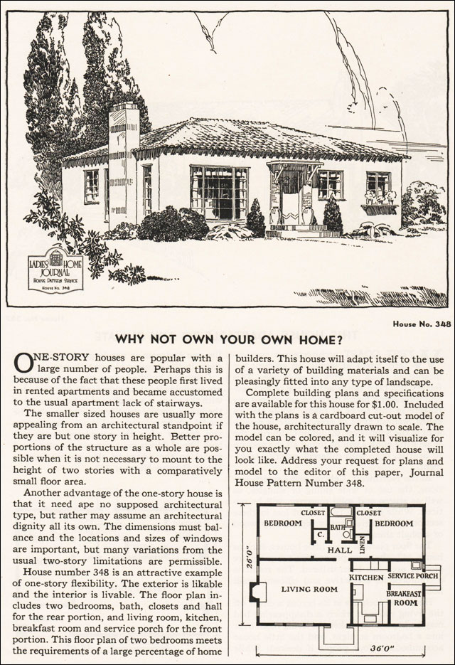 1935 Ladies Home Journal Plans - No. 348