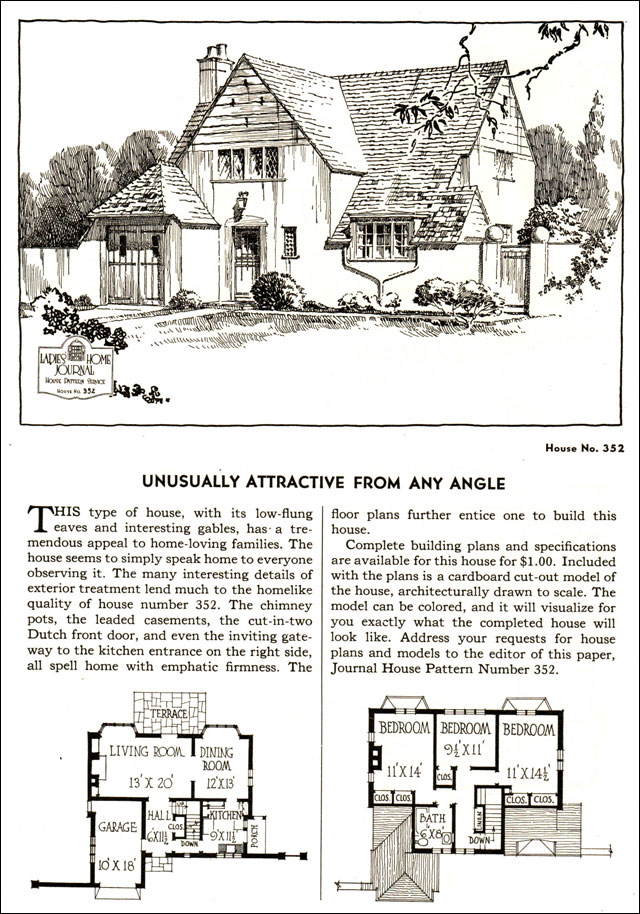 1935 Ladies Home Journal Plans   No. 352