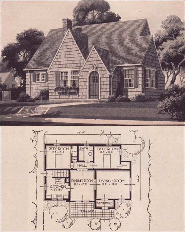 Small English Cottage Style Homes Sears Kit Houses Willard