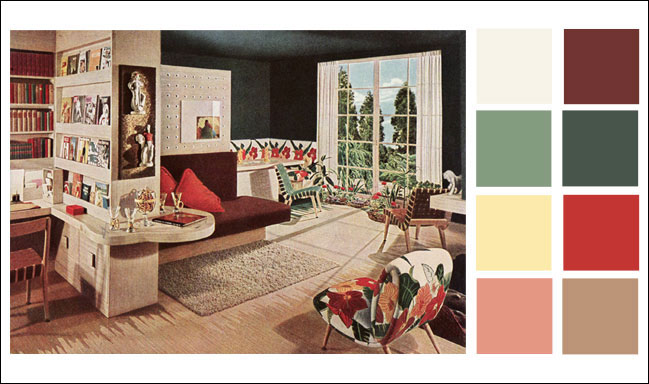 1946 armstrong living room - Linoleum Living Room 2015