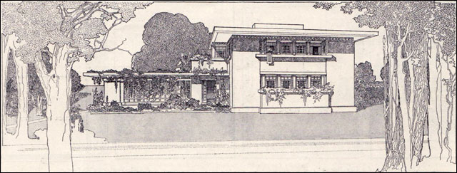 1907 Fireproof House - Frank Lloyd Wright