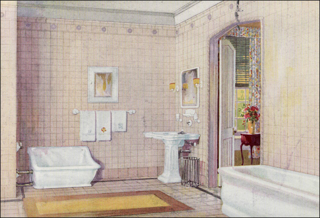 1922 Crane Plumbing Fixtures Early English Revival