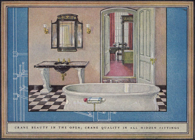 1925 crane plumbing fixtures sophisticated 1920s for Bathroom ideas 1920s home