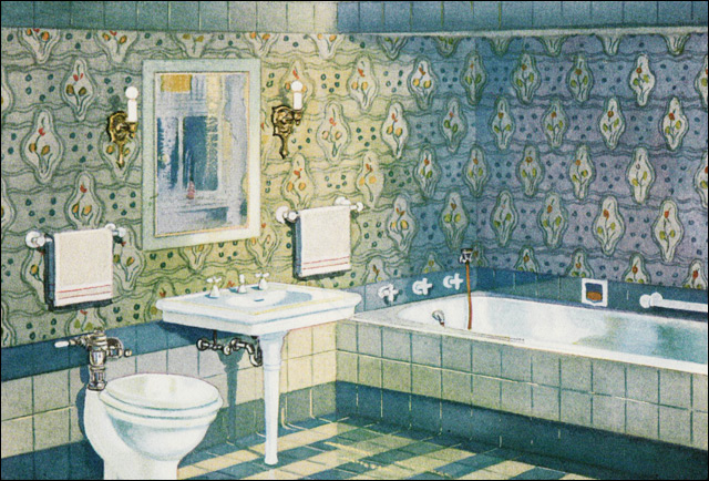 1920 bathroom design images home decorating for Bathroom ideas 1920 s