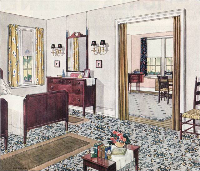 1924 blabon bedroom 1920s bedroom design inspiration for Bathroom ideas 1920s home