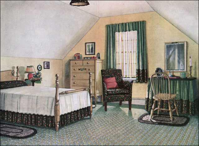 1924 blabon attic bedroom vintage bedroom inspiration for 1920s decoration ideas