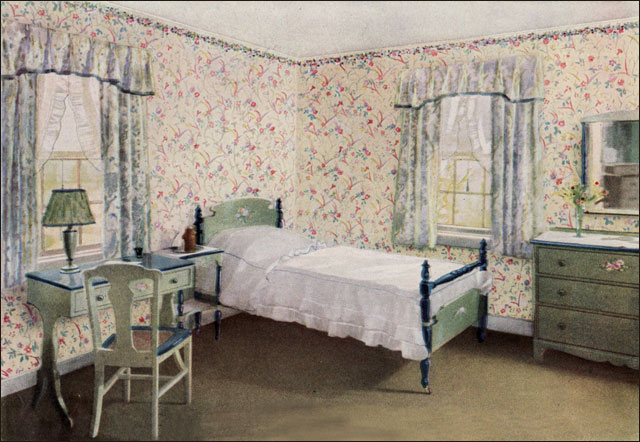 1920s Bedroom Furniture Styles 1925 pastel bedroom