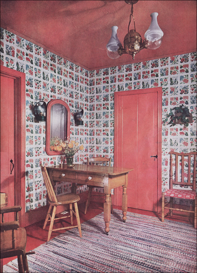 1950 Coral Dining Corner for Colonial Kitchen Style