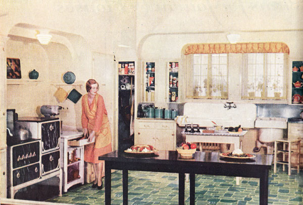 1920s kitchen gallery kitchen flooring cabinetry nooks for Kitchen ideas for 1920s house