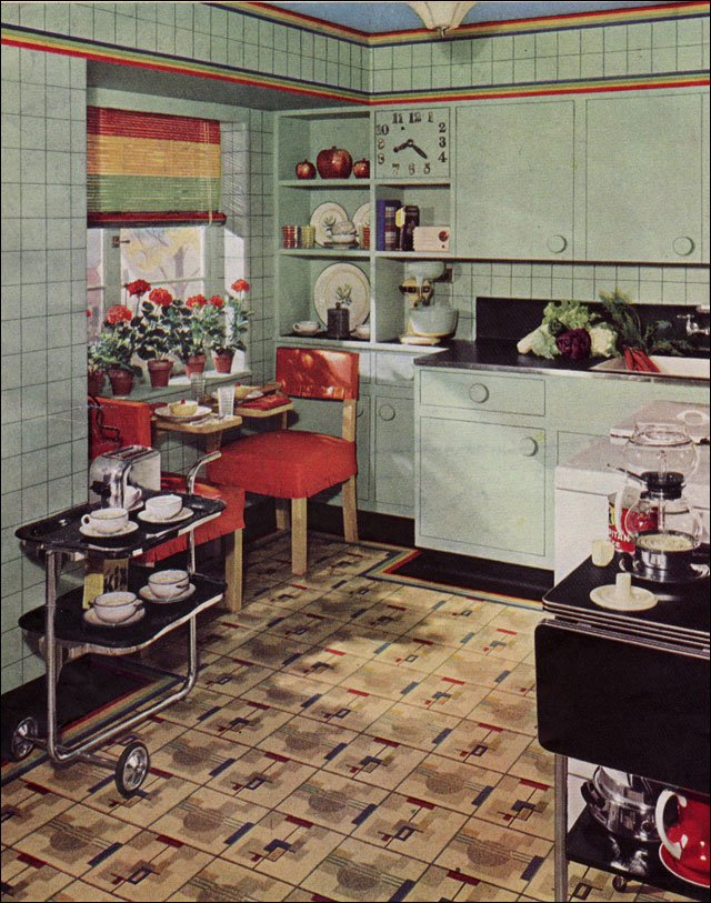 1939 Armstrong Kitchen Design Inspiration from the 1930s