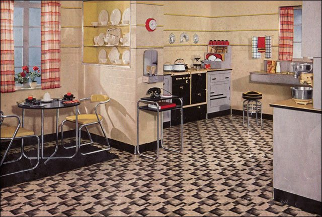 Kitchen inspiration from the 1930s 1935 kitchen interior for 1930s home design ideas