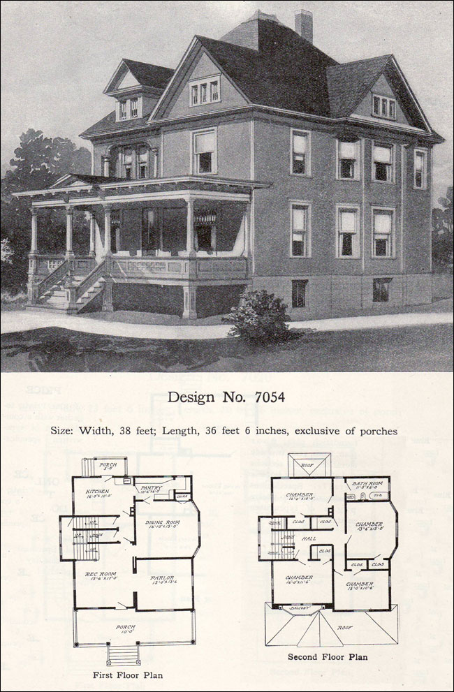 1908 William A. Radford - Plan No. 7054 - Queen Anne Free ... on remington homes, dayton homes, lebanon homes, west point homes, mississippi river homes, las cruces homes, mckinney homes, tennessee homes, cleveland homes, indianapolis homes, indiana homes, madison homes, little rock homes, atlantic city homes, newport homes, pittsburgh homes, lawrenceville homes, baltimore homes, winter park homes, long island homes,