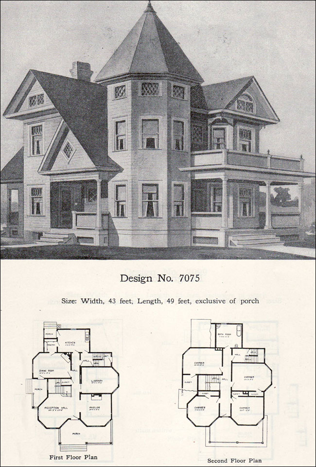 Two-story plus Queen Anne with tower and turret - 1908 ... on open ranch floor plans, sci-fi home plans, antique home windows, antique home features, cliff may homes floor plans, waterfront floor plans, townhouse floor plans, mexican small house floor plans, condo floor plans, small cottage floor plans, vintage floor plans, antique home color schemes, antique home architecture, antique house drawings, aladdin homes floor plans, patio home plans, antique home kitchen, antique house plans, antique home remodeling,