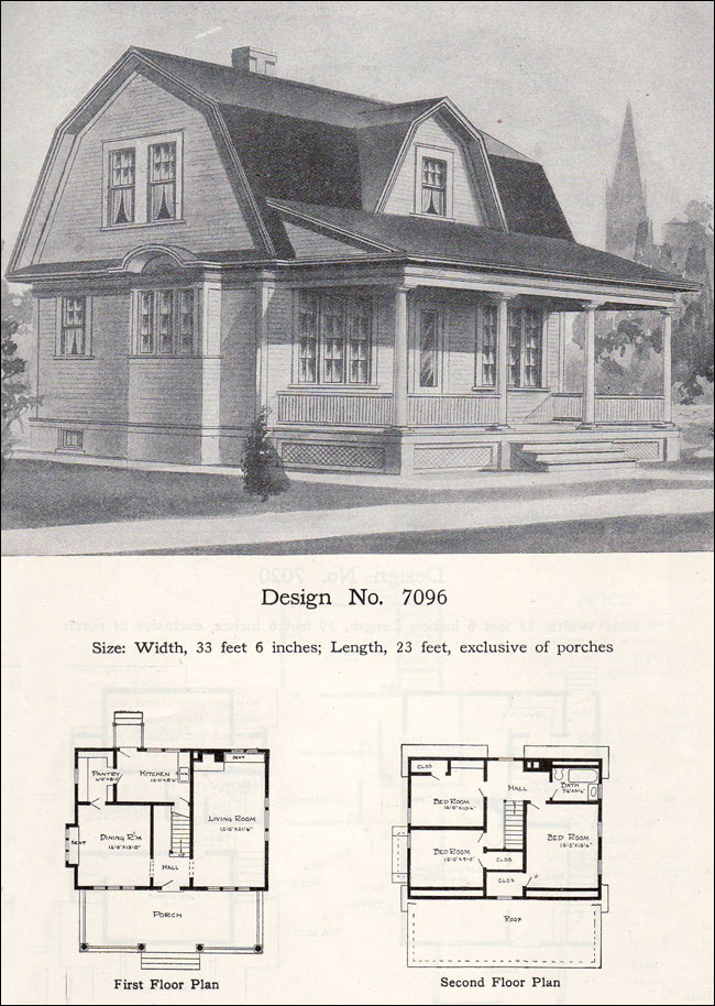 William A Radford 1908 House Plans Dutch Colonial