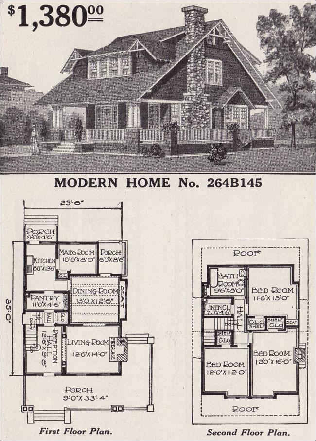 Sears Modern Home No 264b145 Large 1 1 2 Story