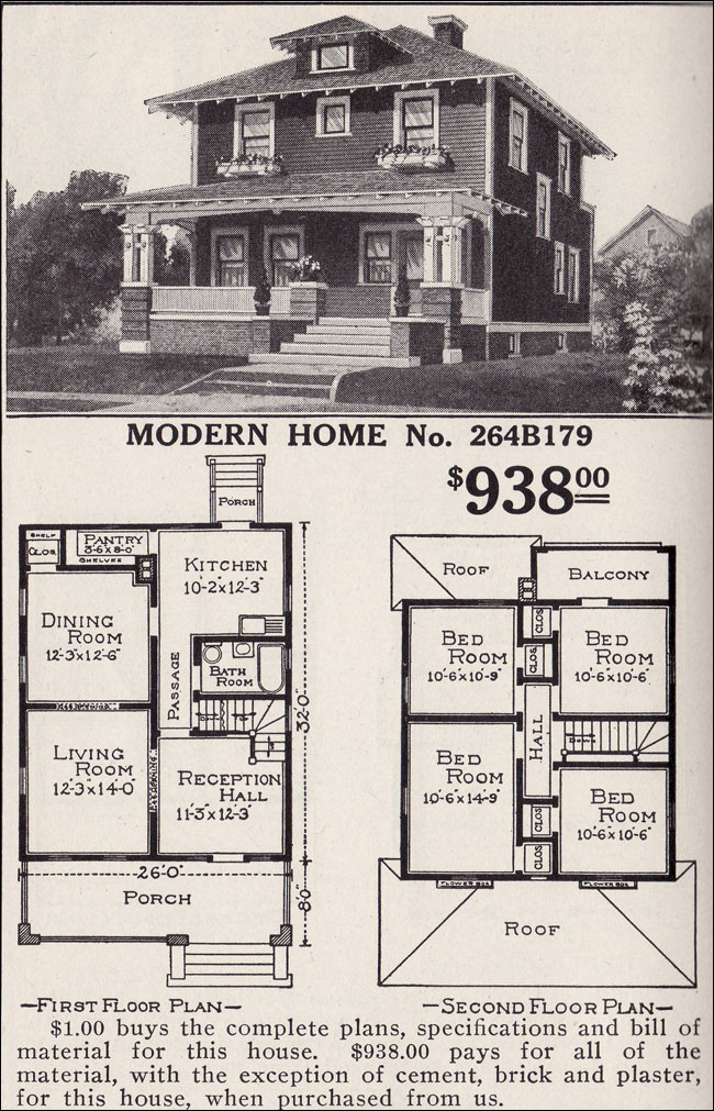 Artistic Foursquare Sears Modern Home No 264b179