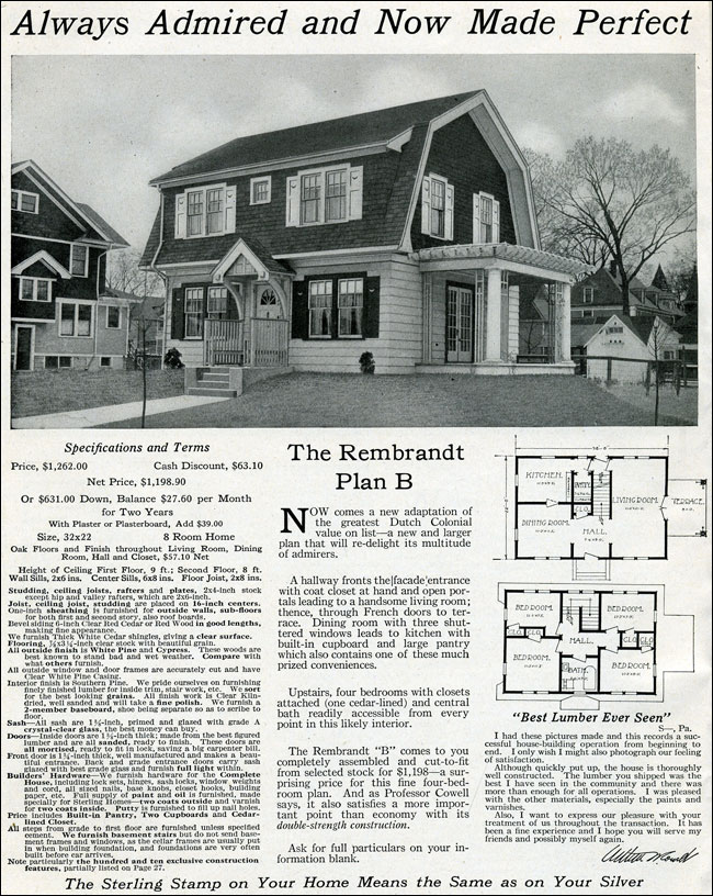 Dutch Colonial Revival 1916 Rembrandt International