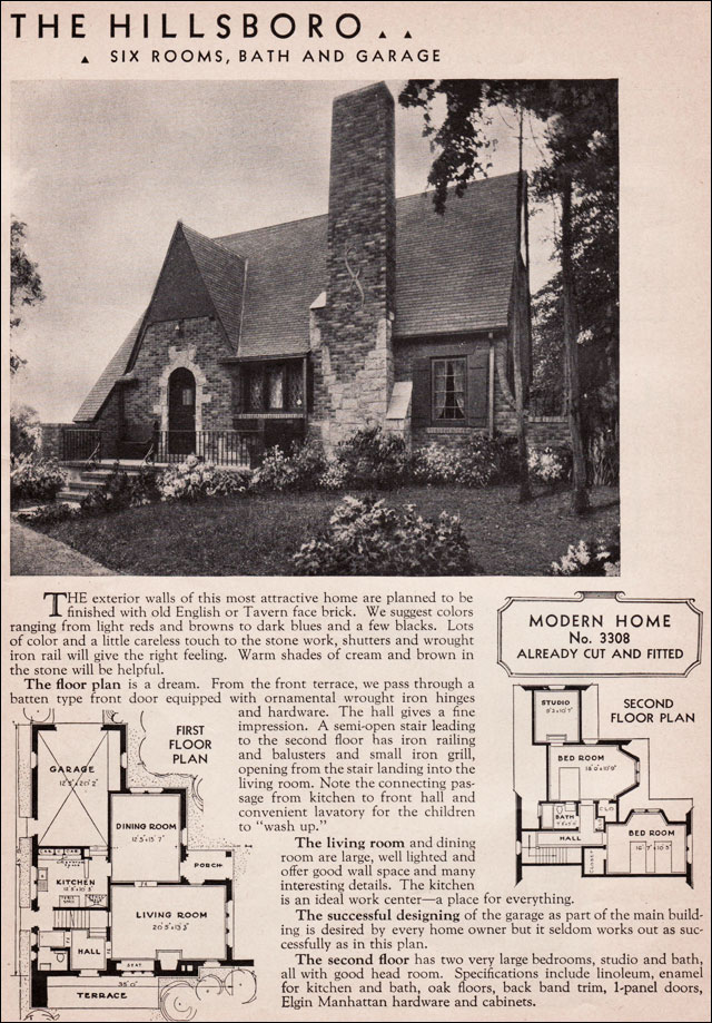 Sears Roebuck Kit Houses 1936 Hillsboro English Cottage