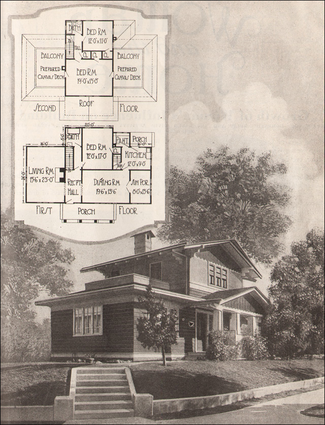 1920 Airplane Bungalow American Residential Architecture