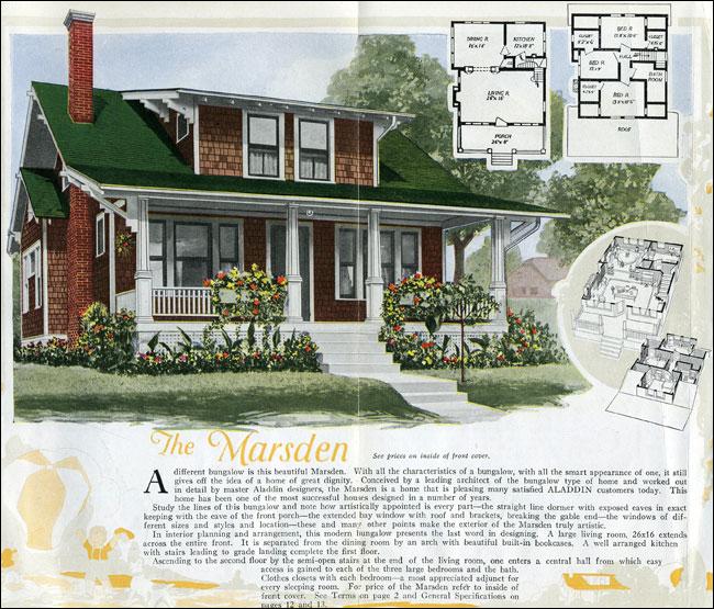 Aladdin homes kit houses 1920 craftsman style bungalow for 1920 s craftsman bungalow house plans