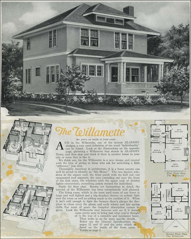 1920 Houses Classic Foursquare The Willamette