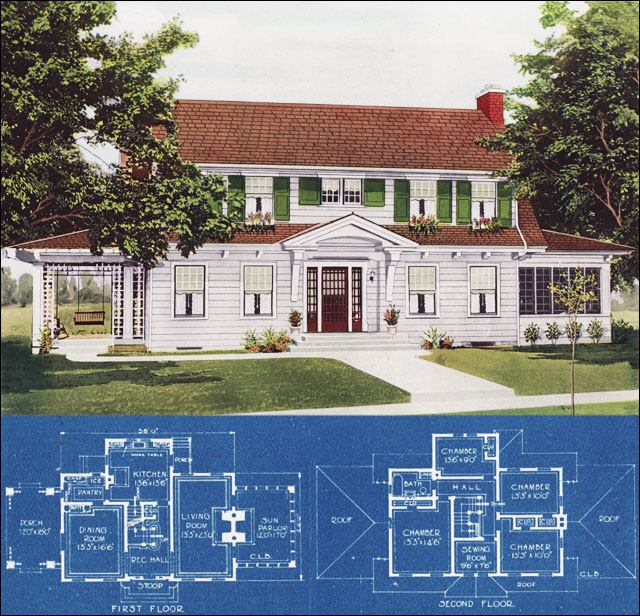 1921 Dutch Colonial Revival American Homes Beautiful By