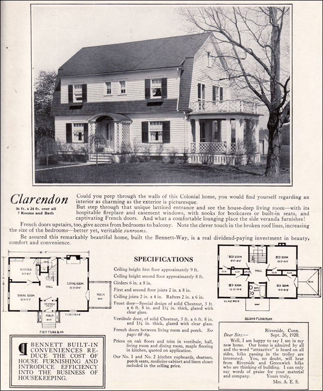 1922 Clarendon By Bennett Homes Dutch Colonial Revival