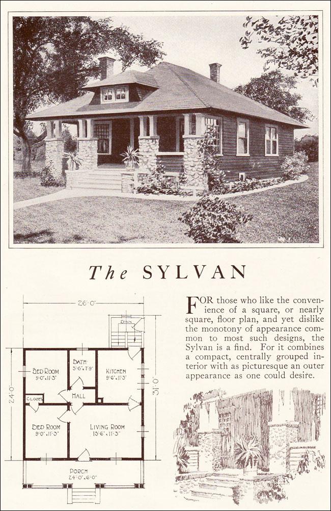 The Princeton Avalon >> Lewis Manufacturing - Kit Homes - 1922 Sylvan - Small Bungalow