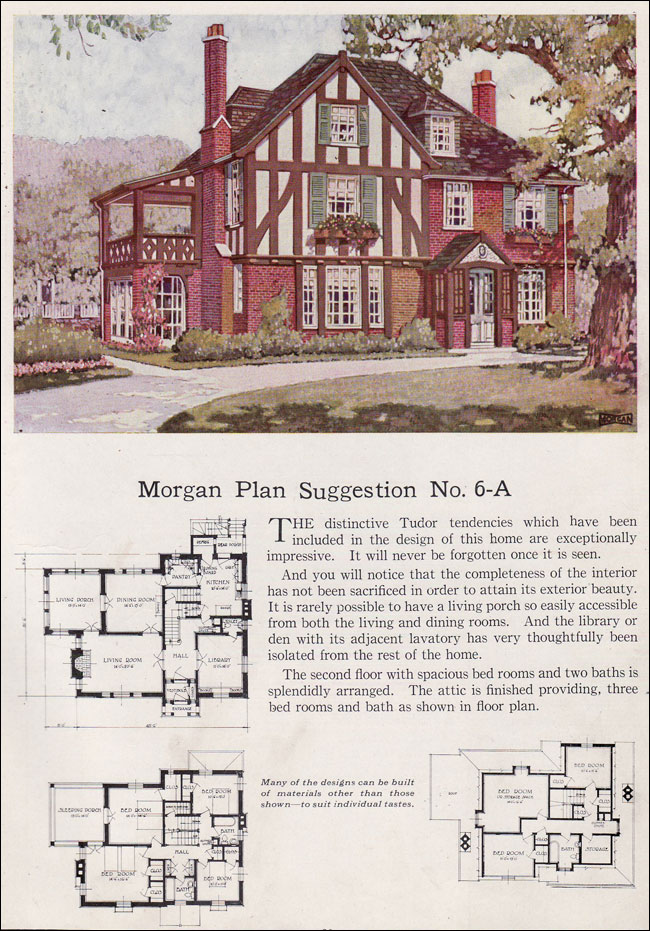 English Tudor Revival 1923 Morgan Building With