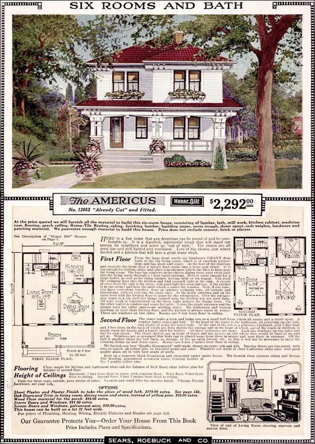 Americus 1923 sears kit homes artistic eclectic for Brick kit homes