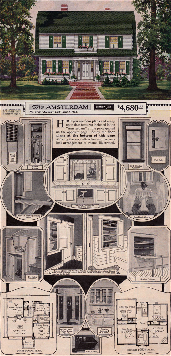 The Amsterdam By Sears Modern Homes 1923 Dutch Colonial