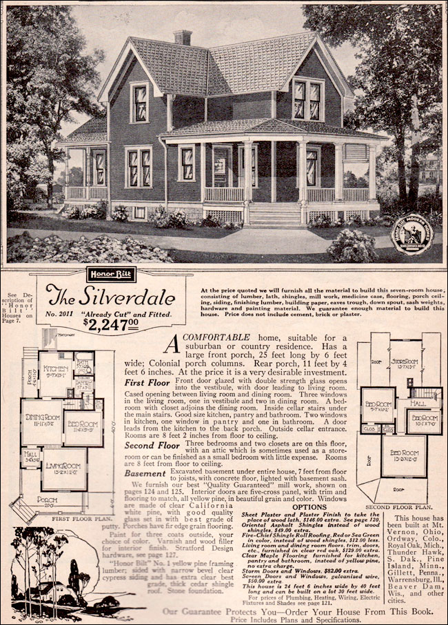 1923 Silverdale by Sears Modern Homes - Kit Houses ... on antique windmill plans, antique chicken coop plans, old-fashioned floor plans, antique chateau plans, antique church plans, farm house plans, antique floor plans, antique cottage plans,