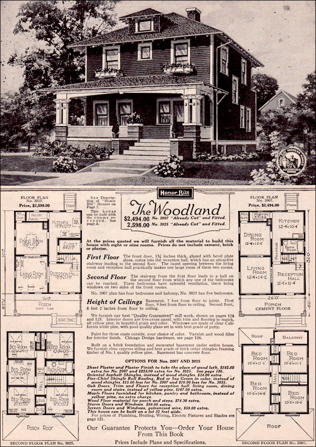 Four Squar House Design Of 1900s: The Woodland By Sears Modern Homes