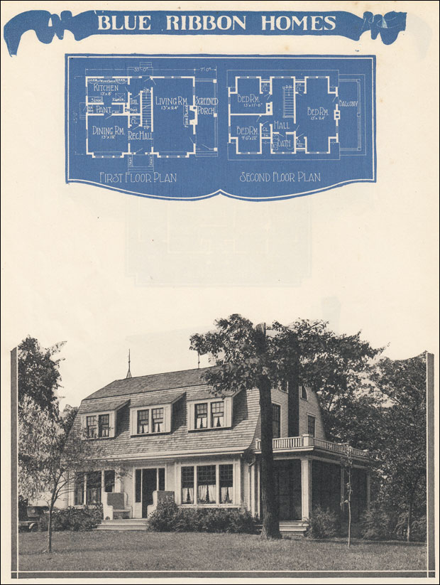 1920s Dutch Colonial House Plan 1924 Radford S Blue Ribbon Homes