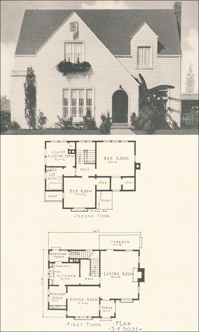 Modern English Style No 3031 1920s House Plans By The