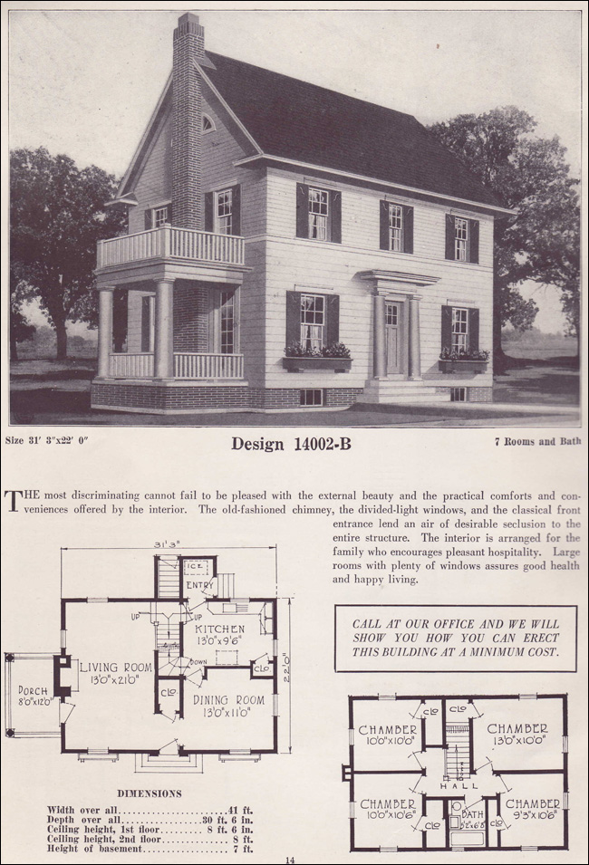 1925 Colonial Revival Classic Home Two Story 1925
