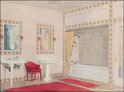1920s Bathroom Design Vintage Decorating Design