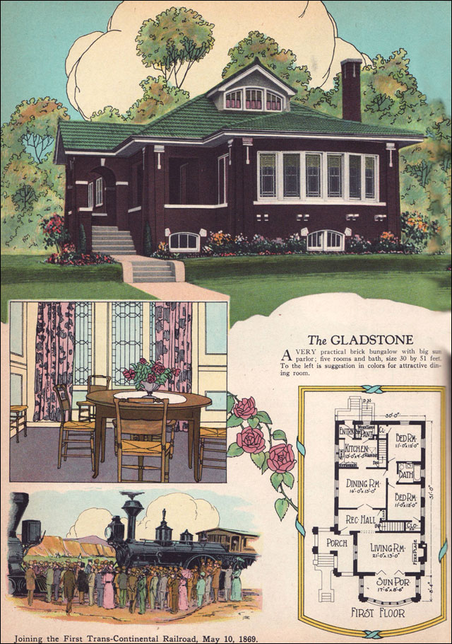 1925 chicago style brick bungalow american residential for 1920 bungalow house plans
