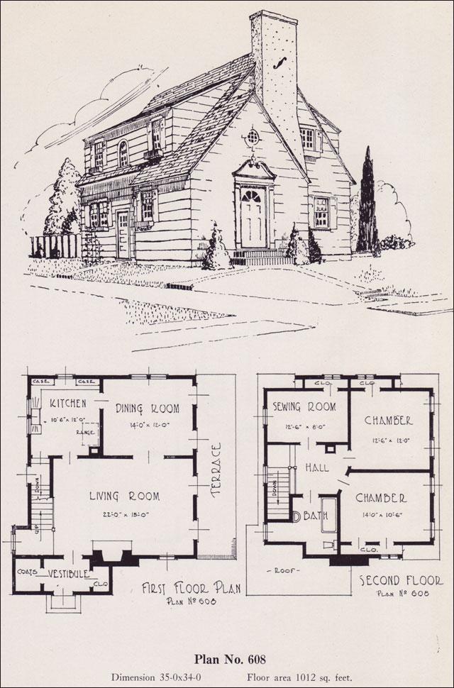 Modernize Colonial 1926 Universal Plan Service No 608 House Plans Portland Homes Oregon
