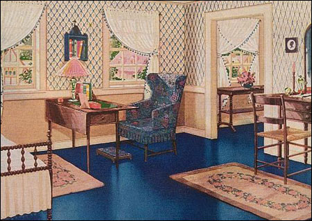 Bedrooms During The 1920s Were All About Color And Pattern Colors Tended To Be Soothing Often Very Pretty Feminine With Lots Of Fls Pastels