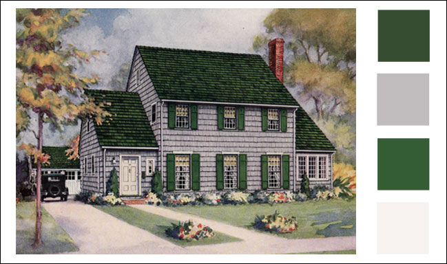 1928 Weatherbest Shingles Gray Color Scheme For Traditional Style Home